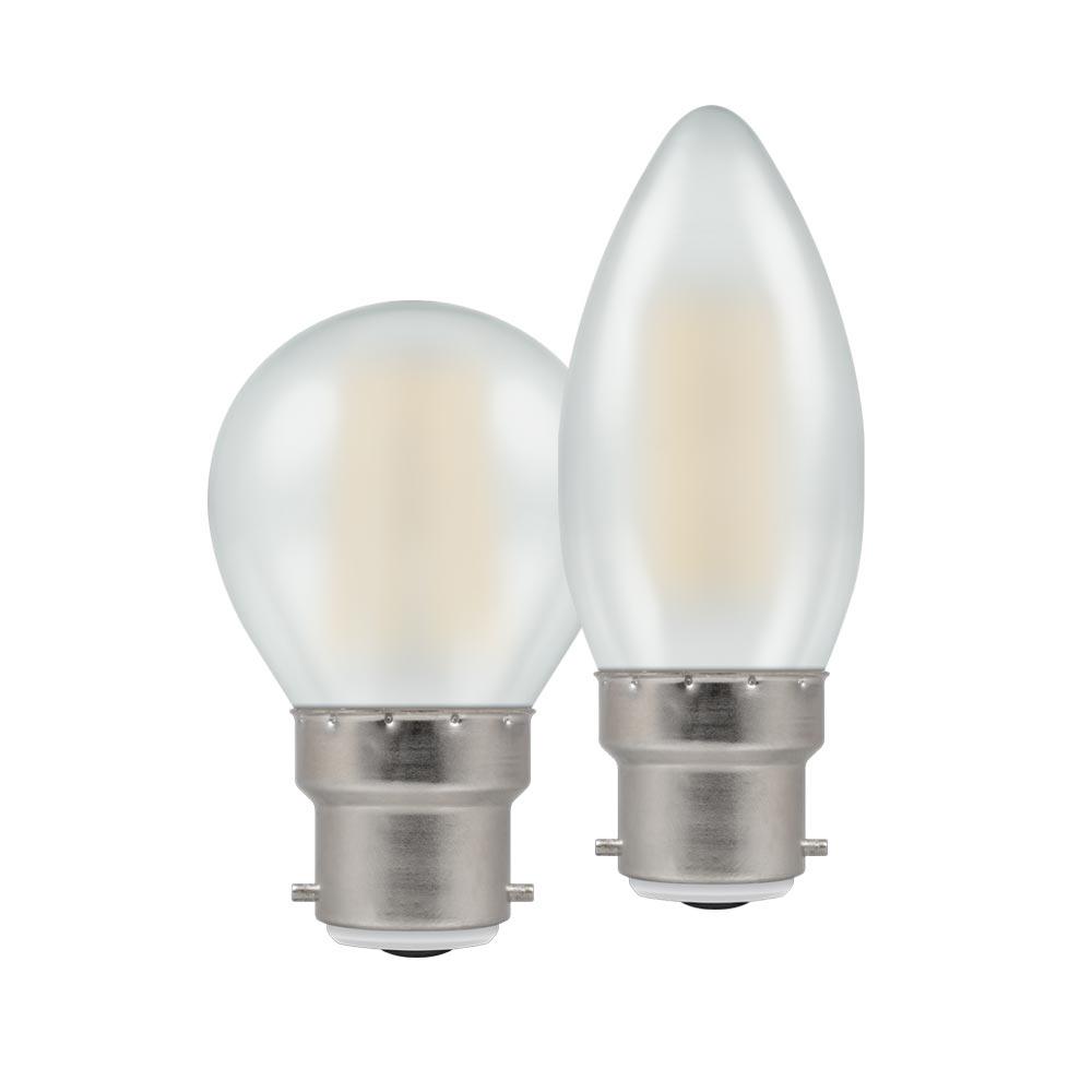 LED Filament Candle/Round Pearl BC