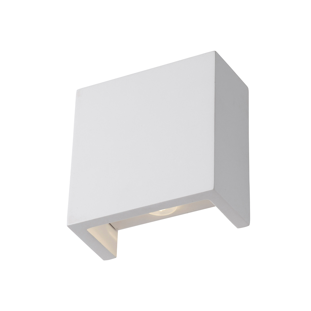 Gypsum Square Up & Down Wall Light