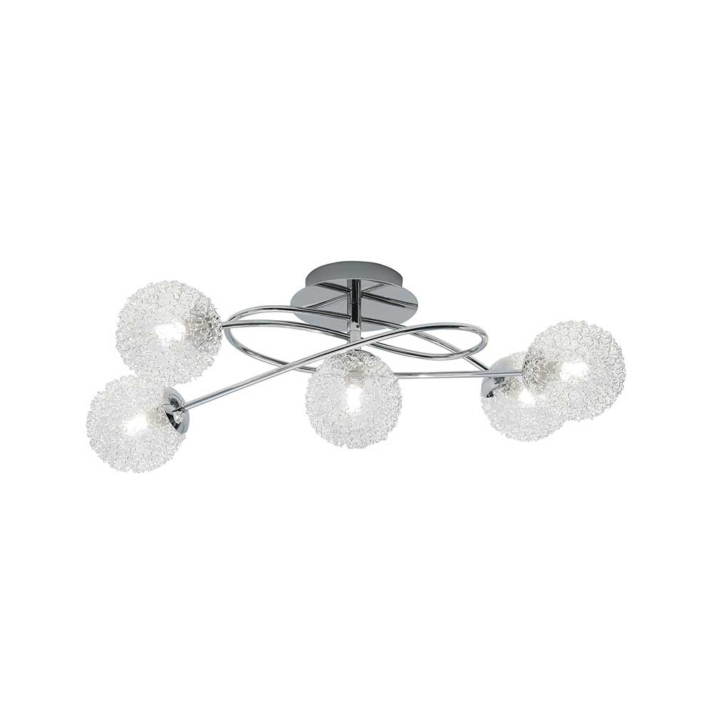 Wire Five Light Ceiling Light