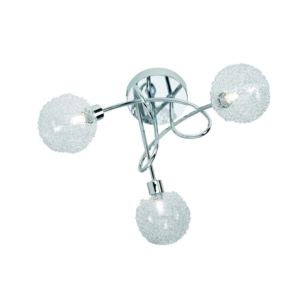 Wire Three Ceiling Light