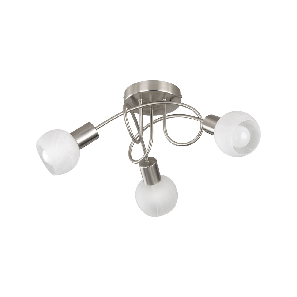 Antibed Three Light Glass Bowl Ceiling Light