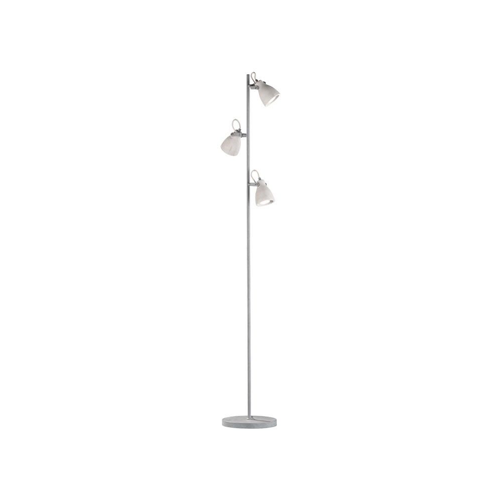 Concrete Three Light Floor Lamp