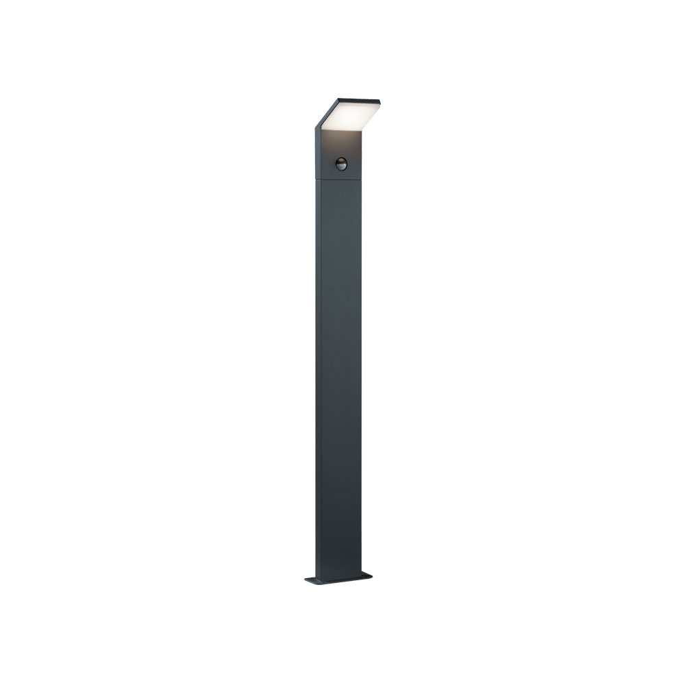 Pearl Tall Angled LED Bollard with PIR