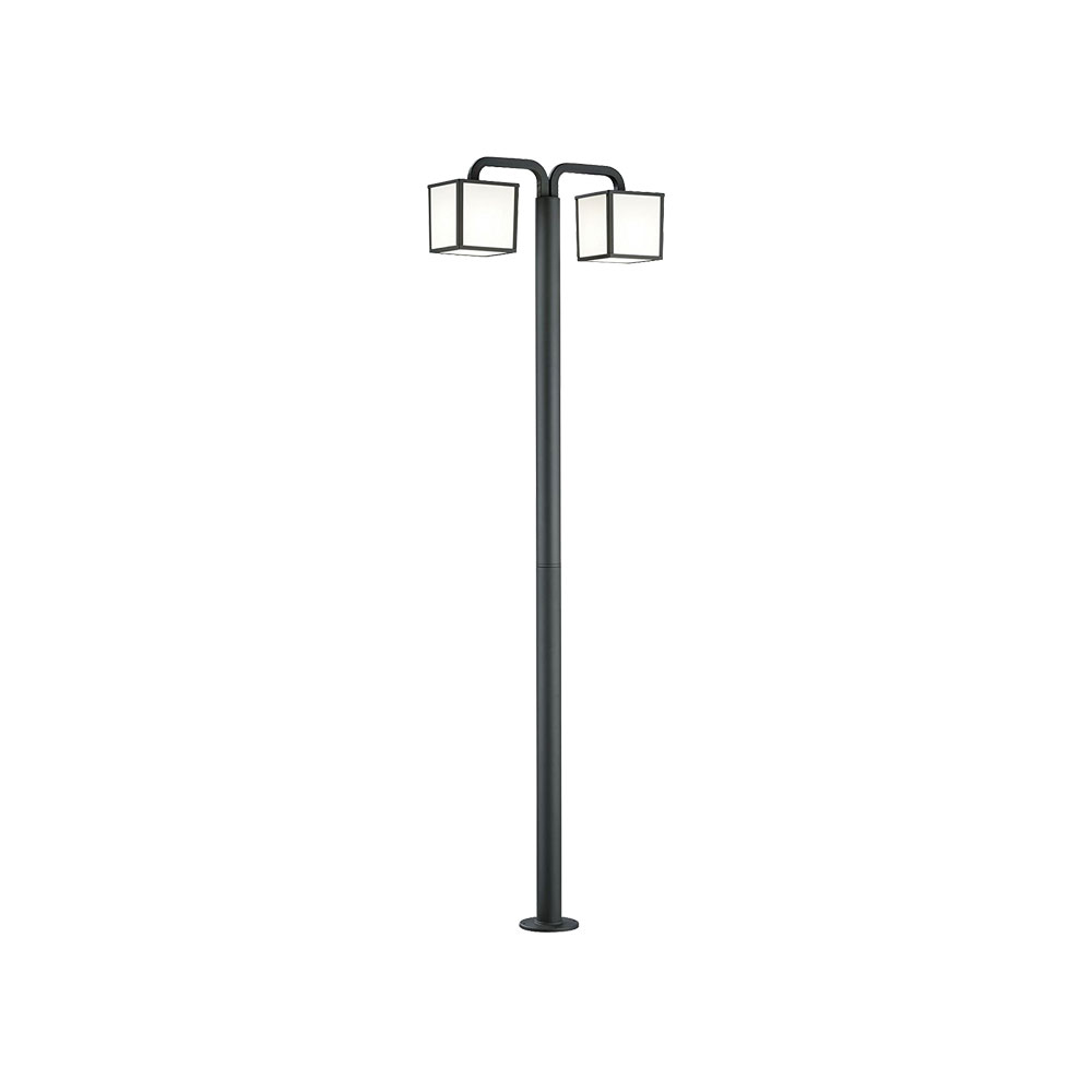 Cubango Two Light Cube Bollard