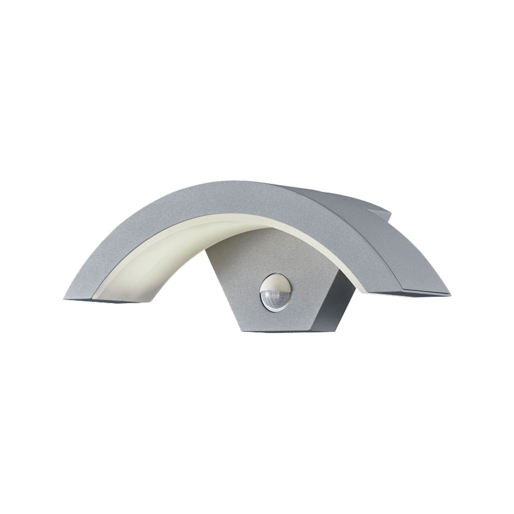 Ohio Curved LED Outside Security Light with PIR