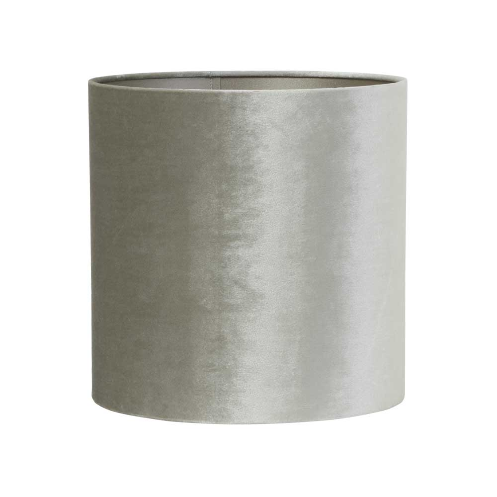 Small Zinc Cylinder Textile Shade