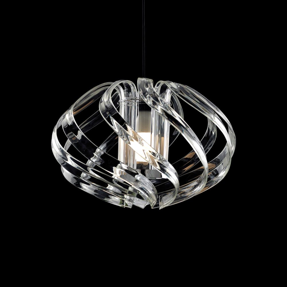 Basik Polaris Crystal Pendant Clear