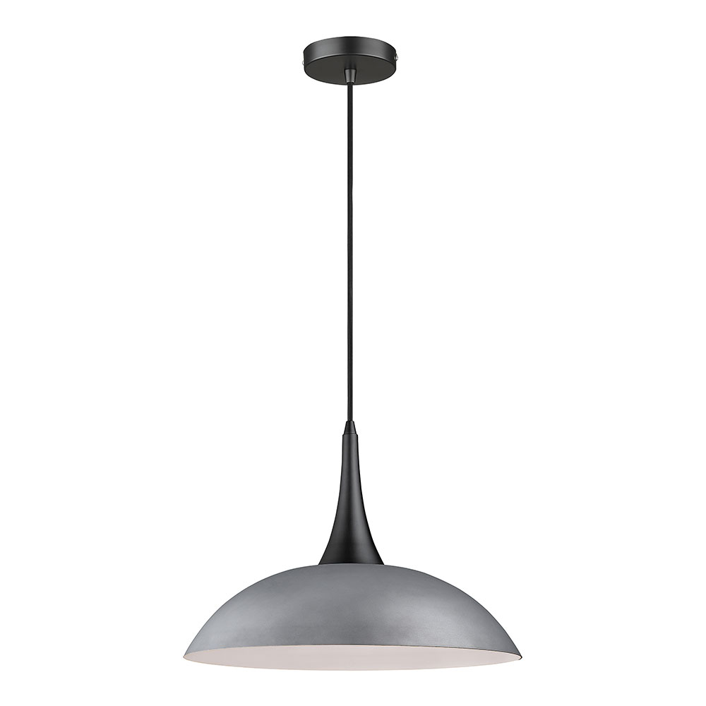 Stamford Cement & Matt Black Pendant